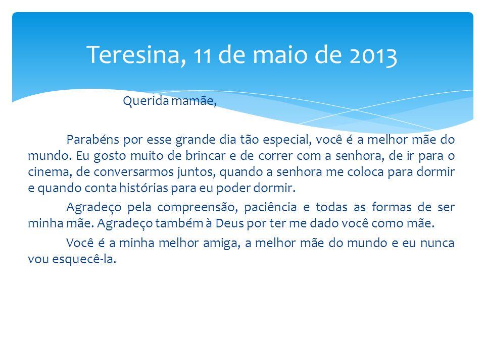 Teresina, 11 de maio de 2013