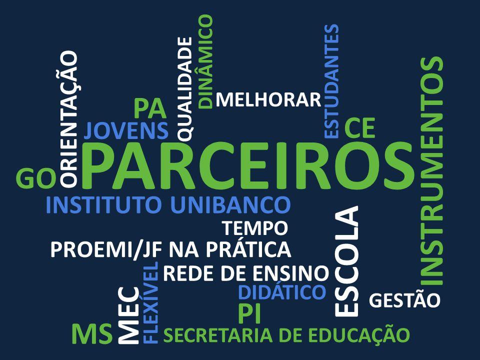PARCEIROS ESCOLA INSTRUMENTOS PA CE GO MEC PI MS JOVENS