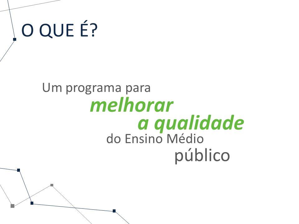 O QUE É Um programa para melhorar a qualidade do Ensino Médio público