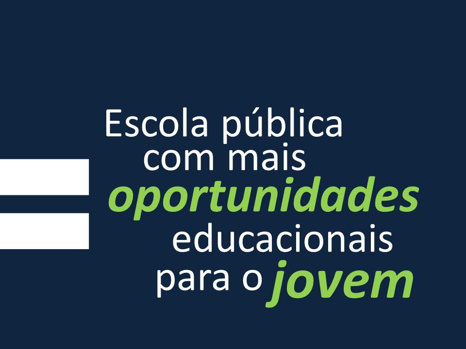 Escola pública com mais oportunidades educacionais jovem para o