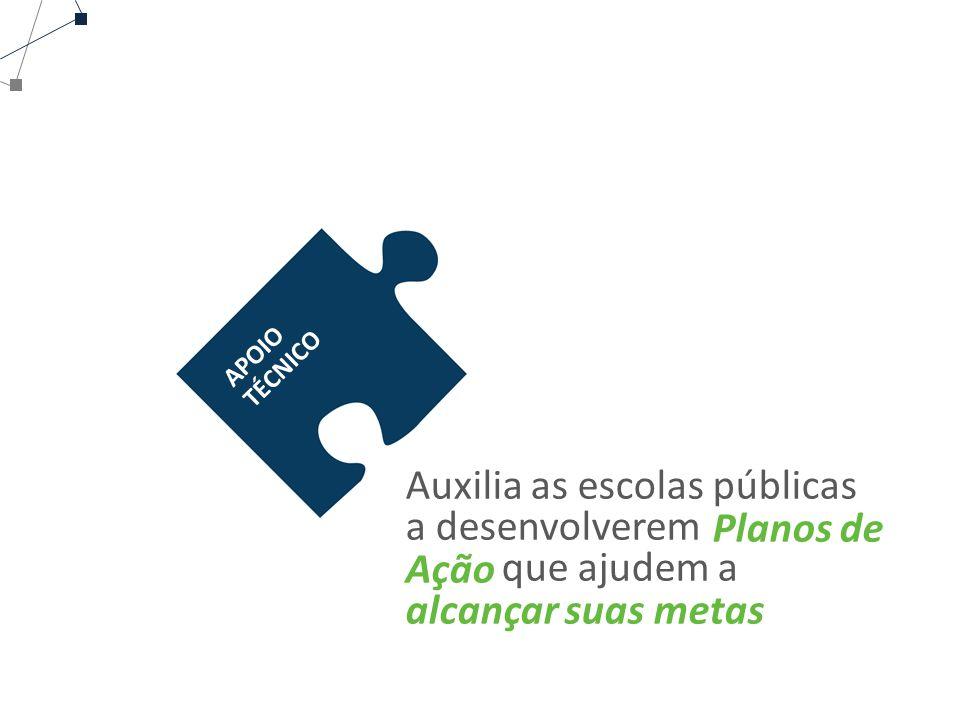 Auxilia as escolas públicas a desenvolverem que ajudem a Planos de