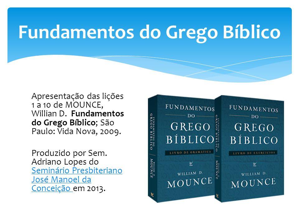 Fundamentos do Grego Bíblico