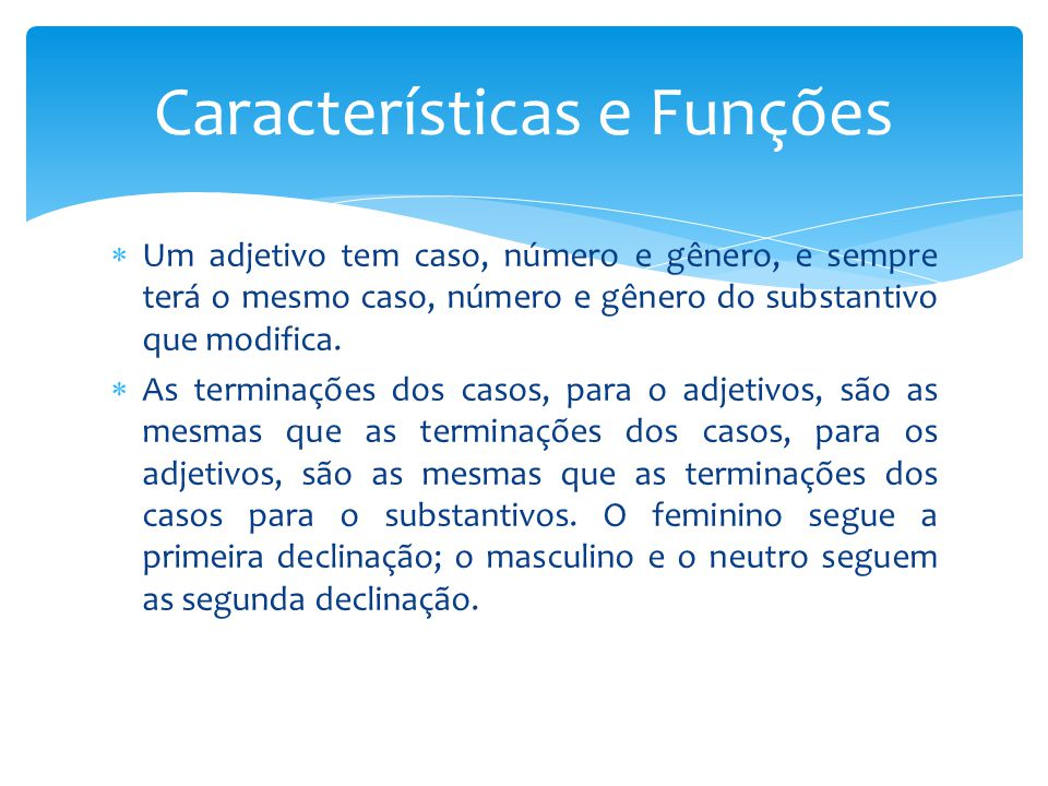 Características e Funções