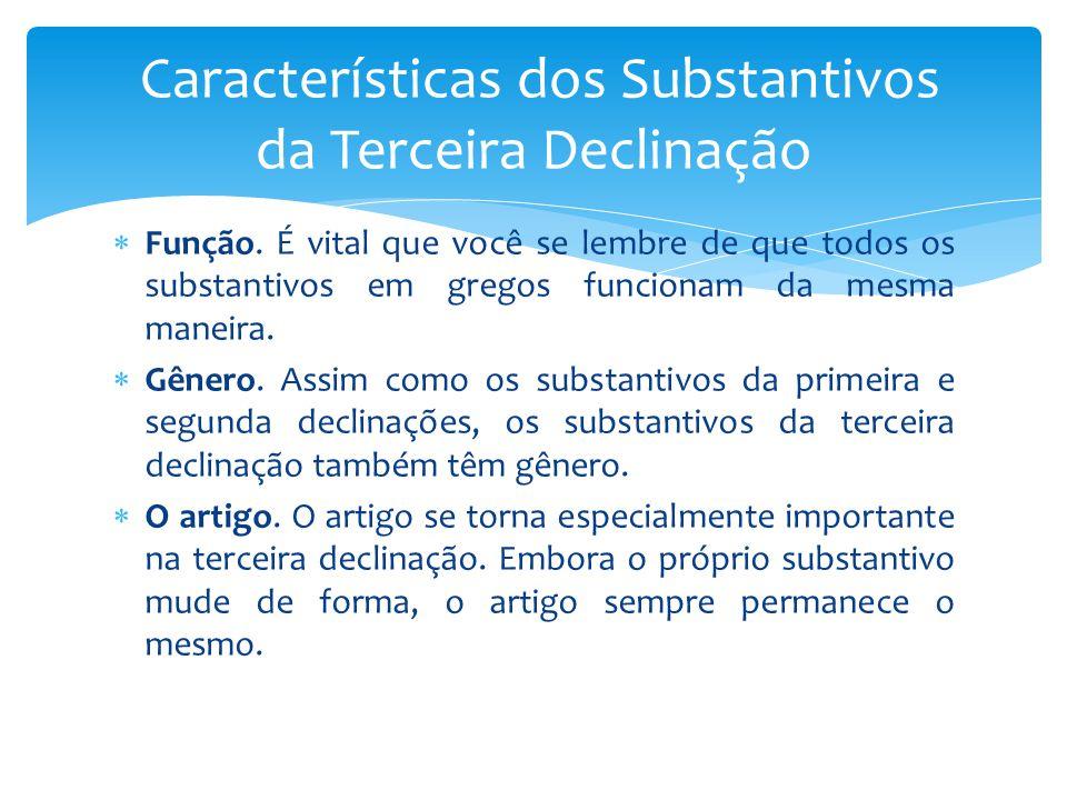 Características dos Substantivos da Terceira Declinação