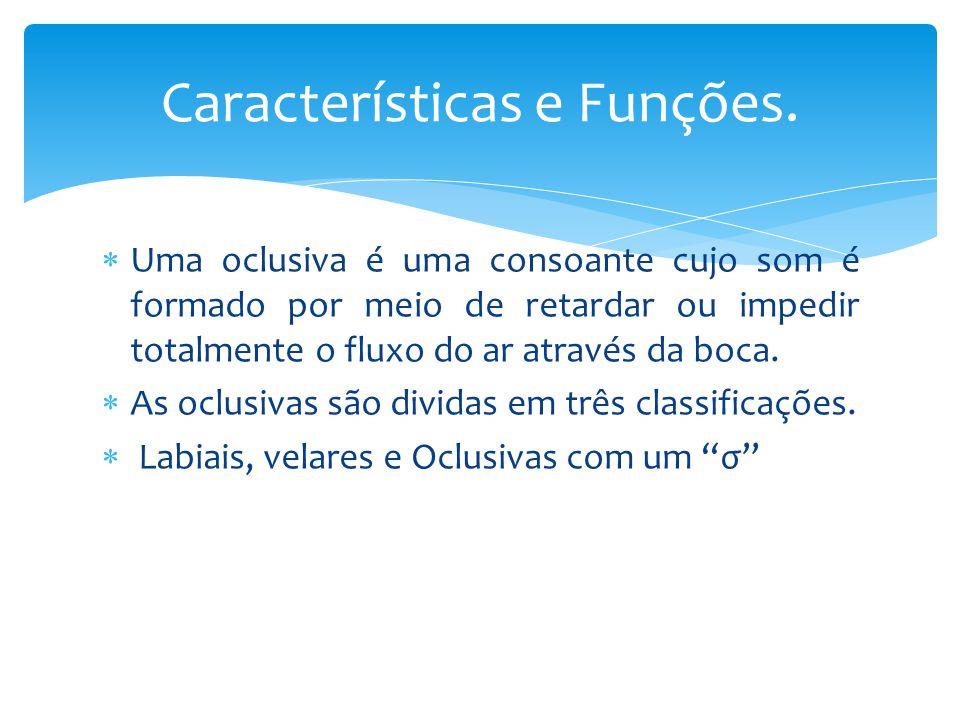 Características e Funções.