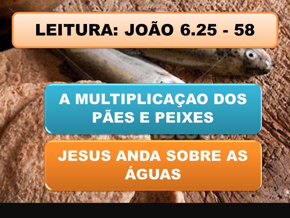 LEITURA: JOÃO 6.25 - 58 A MULTIPLICAÇAO DOS PÃES E PEIXES