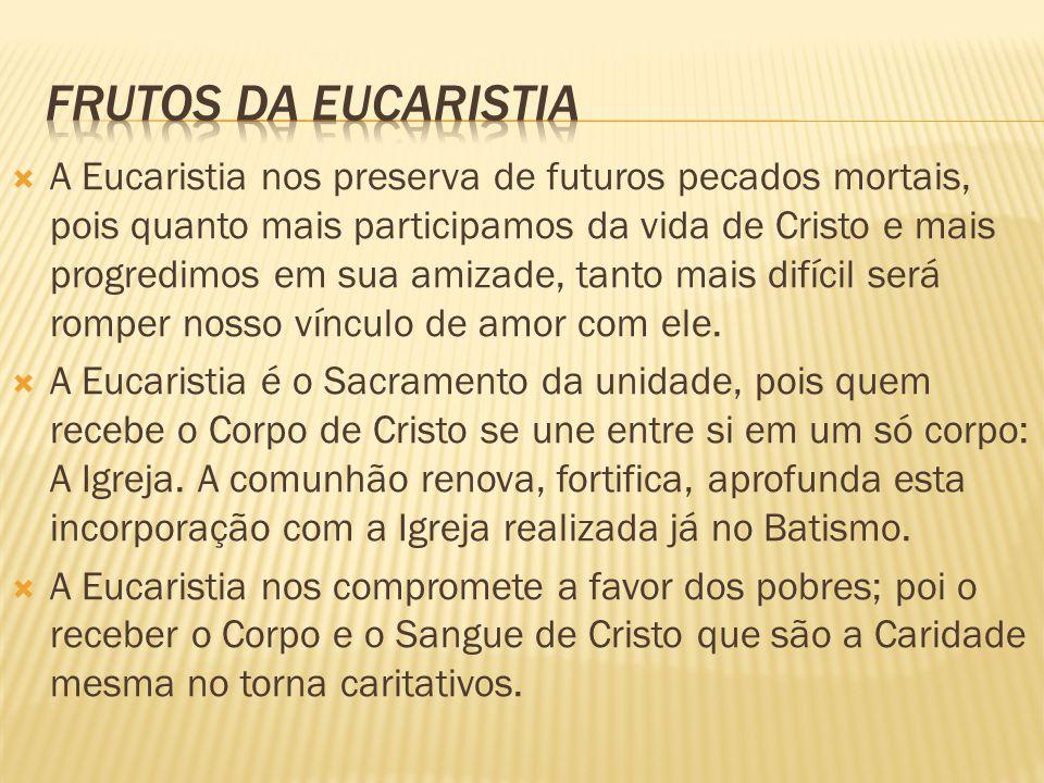 Frutos da eucaristia