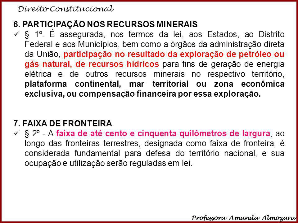 6. PARTICIPAÇÃO NOS RECURSOS MINERAIS