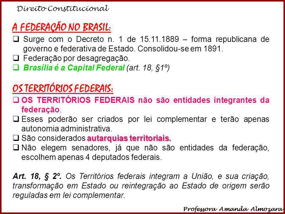 OS TERRITÓRIOS FEDERAIS:
