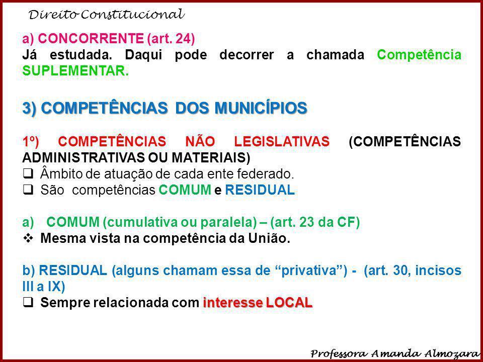 3) COMPETÊNCIAS DOS MUNICÍPIOS