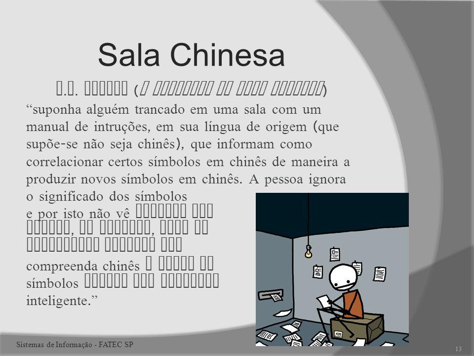 Sala Chinesa J.R. Searle (O problema da sala chinesa)