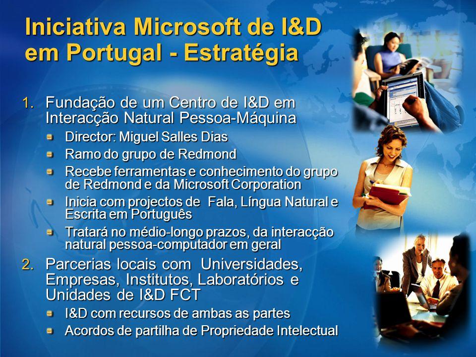 Iniciativa Microsoft de I&D em Portugal - Estratégia