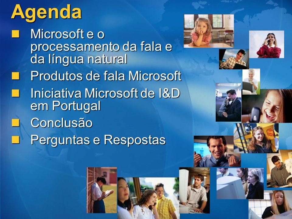 Agenda Microsoft e o processamento da fala e da língua natural