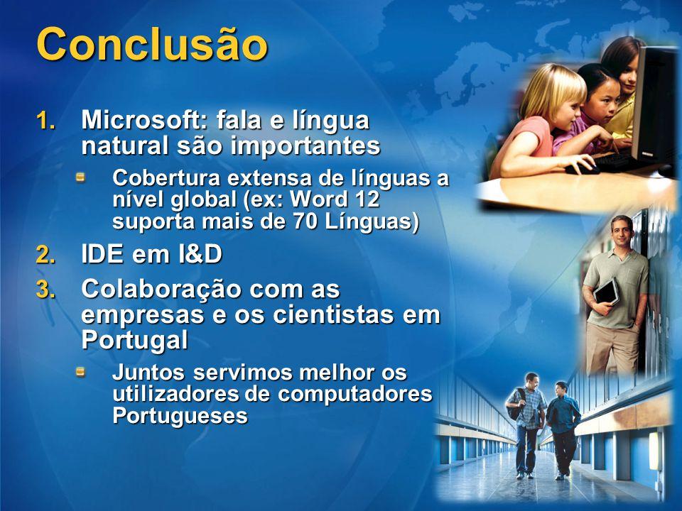 Conclusão Microsoft: fala e língua natural são importantes IDE em I&D