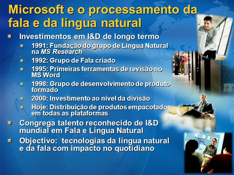 Microsoft e o processamento da fala e da língua natural