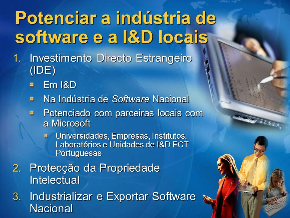 Potenciar a indústria de software e a I&D locais