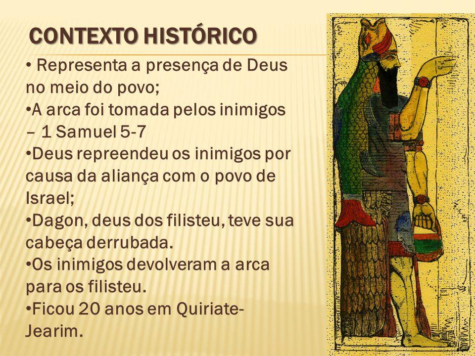 Contexto Histórico Representa a presença de Deus no meio do povo;