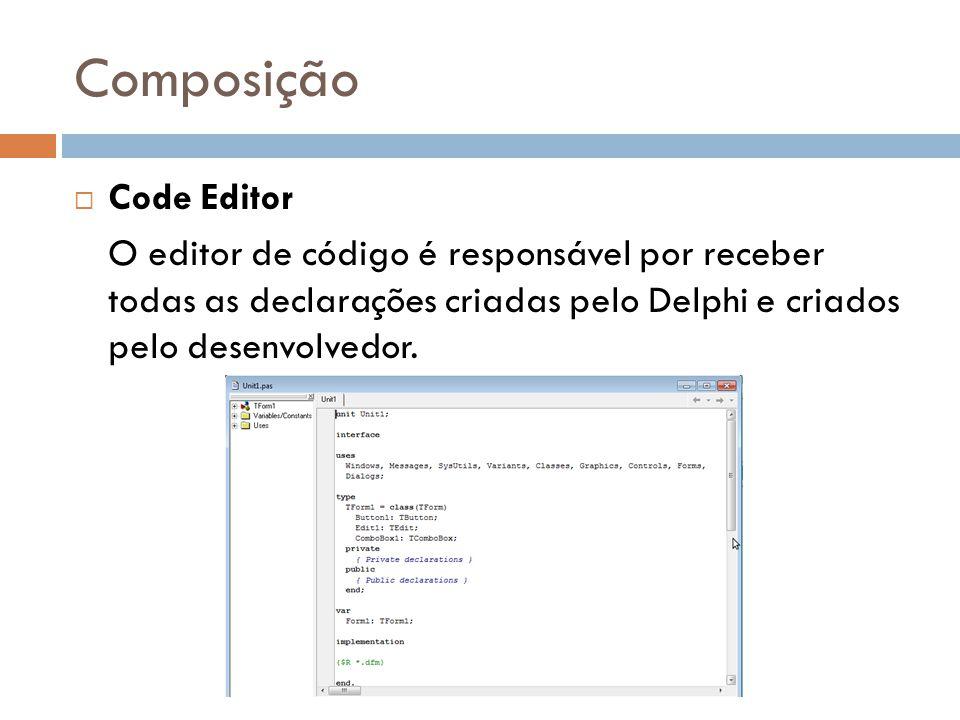 Composição Code Editor
