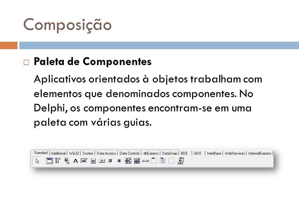 Composição Paleta de Componentes