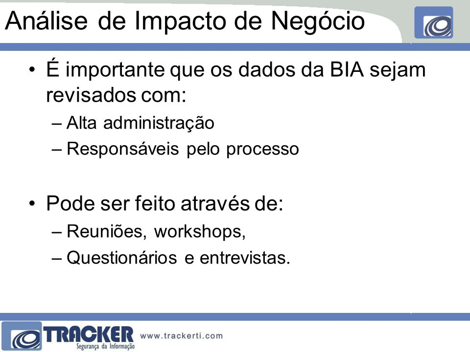 Análise de Impacto de Negócio