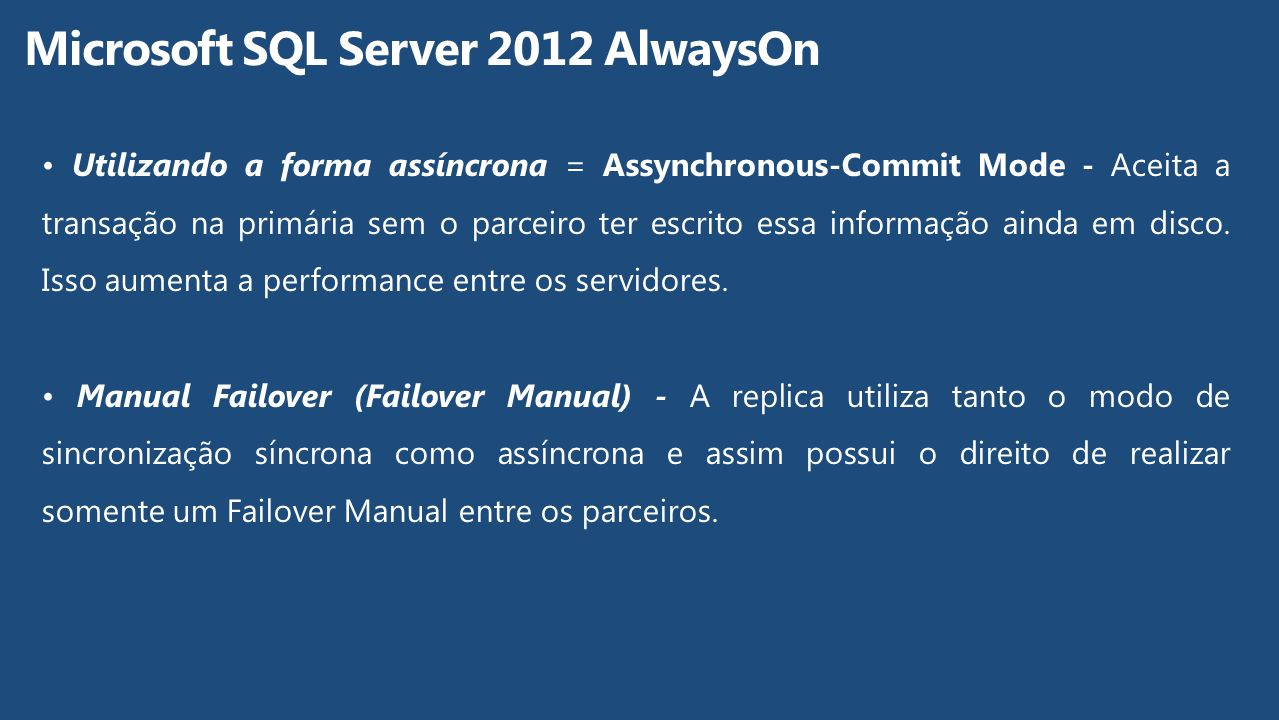 Microsoft SQL Server 2012 AlwaysOn