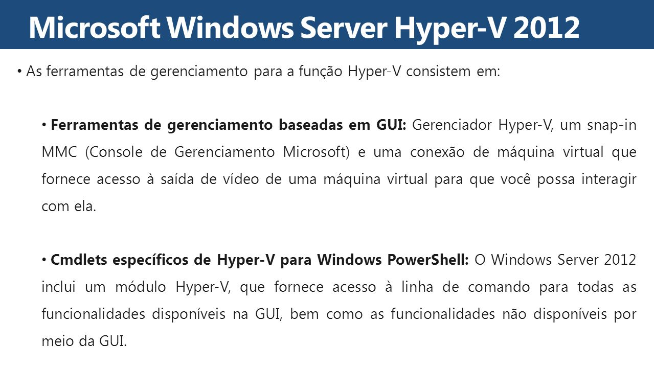 Microsoft Windows Server Hyper-V 2012