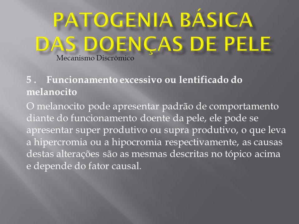 Patogenia Básica das doenças de pele
