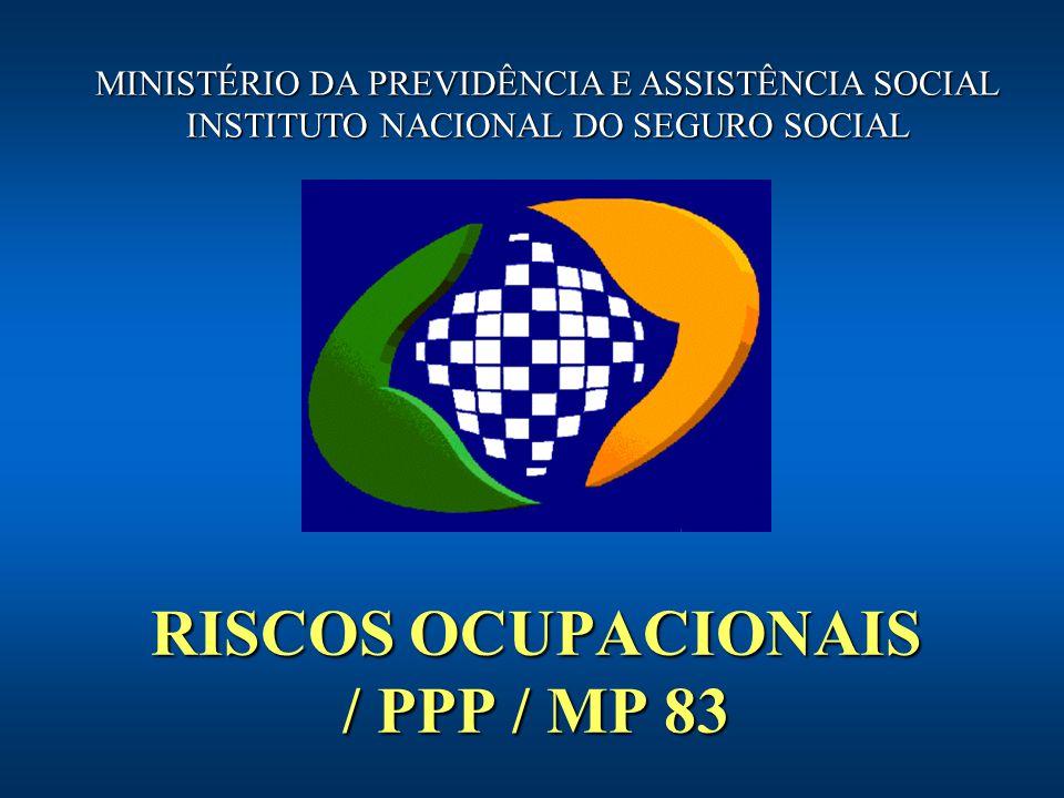 RISCOS OCUPACIONAIS / PPP / MP 83