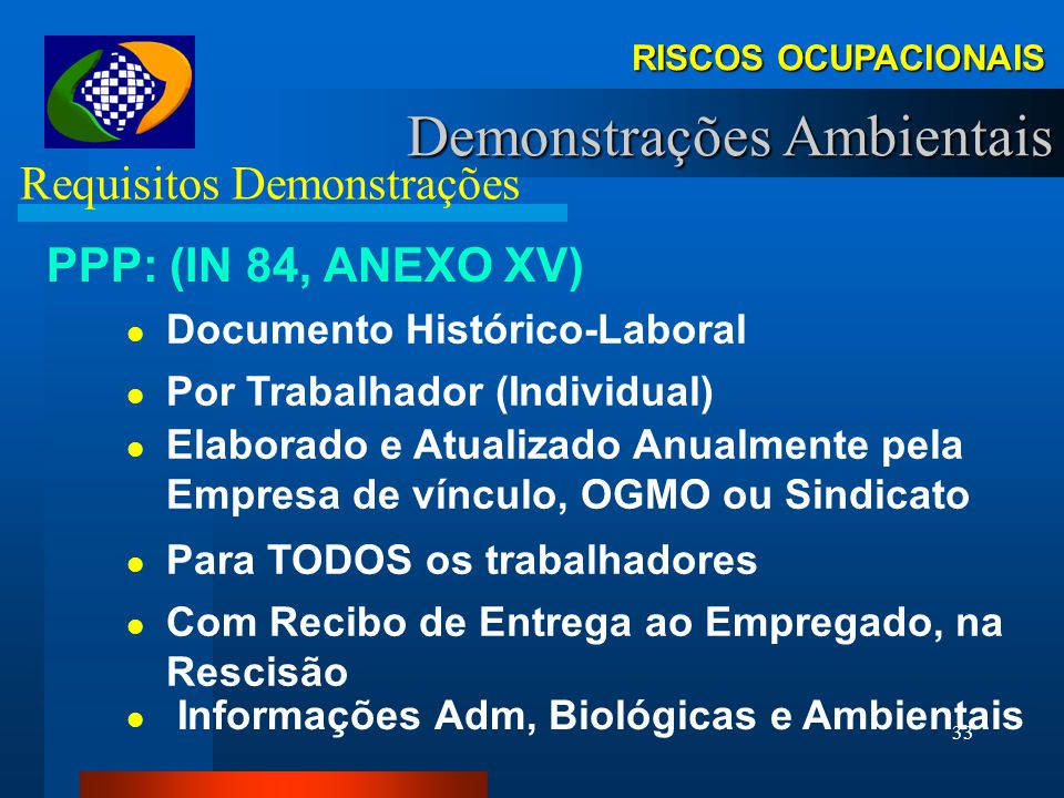 Requisitos Demonstrações