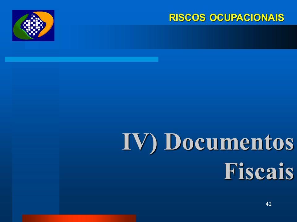 IV) Documentos Fiscais