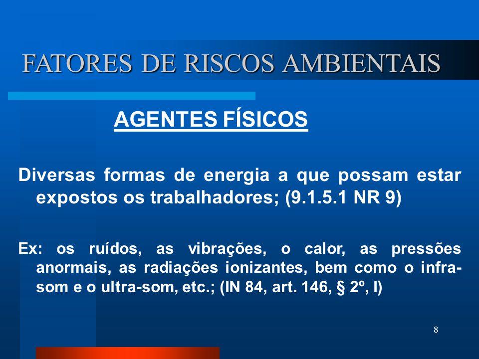 FATORES DE RISCOS AMBIENTAIS
