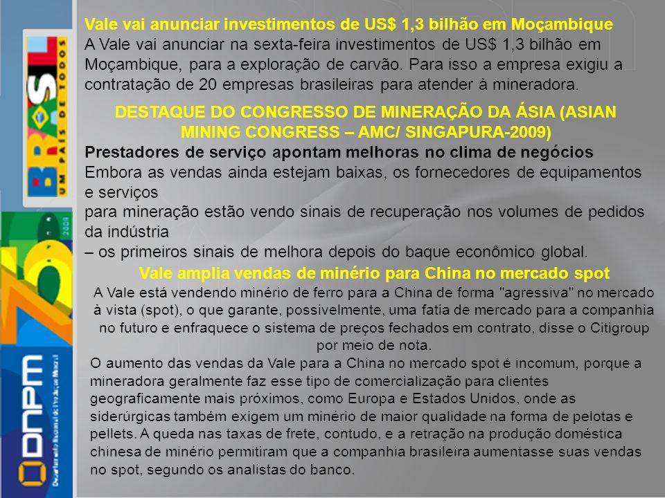 Vale vai anunciar investimentos de US$ 1,3 bilhão em Moçambique