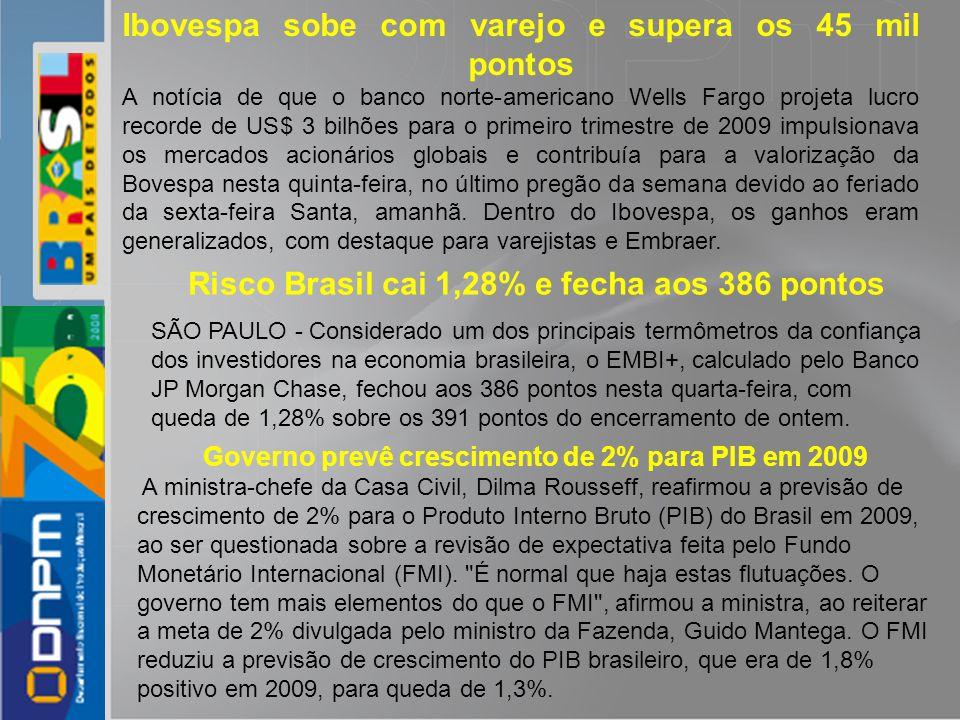 Risco Brasil cai 1,28% e fecha aos 386 pontos