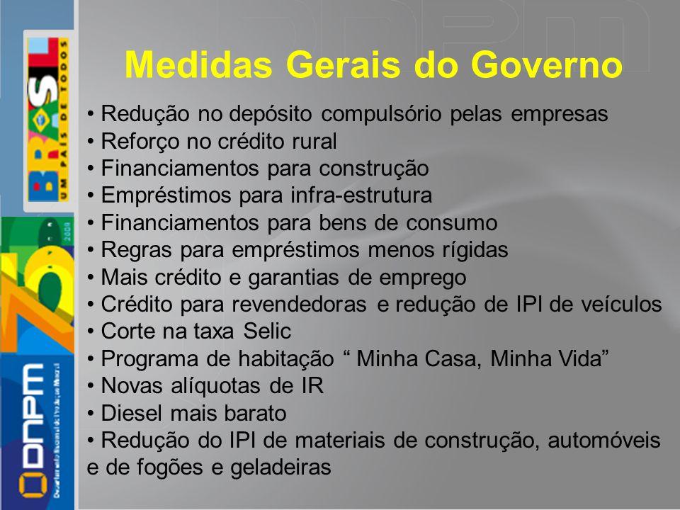 Medidas Gerais do Governo