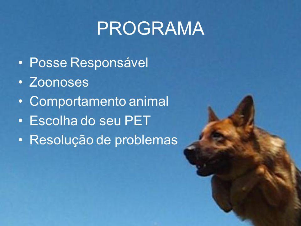 PROGRAMA Posse Responsável Zoonoses Comportamento animal