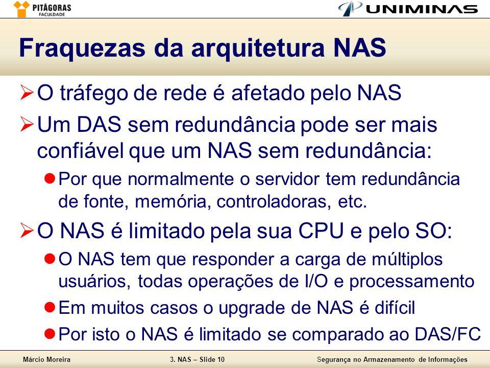 Fraquezas da arquitetura NAS