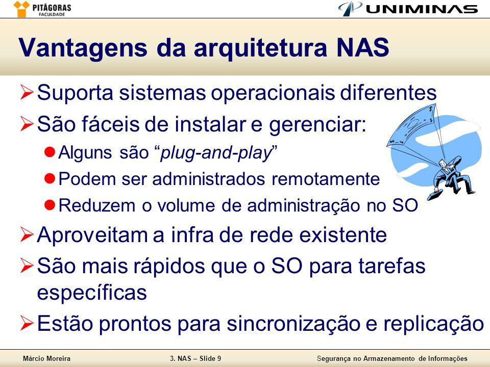 Vantagens da arquitetura NAS