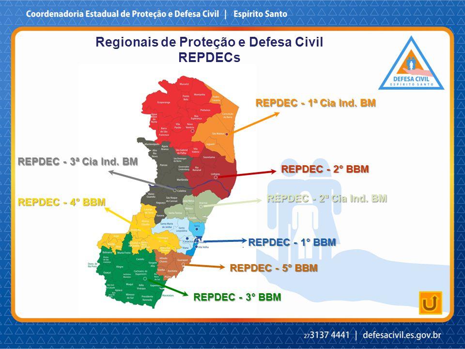 Regionais de Proteção e Defesa Civil REPDECs