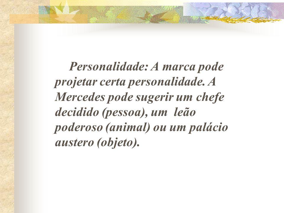 Personalidade: A marca pode projetar certa personalidade