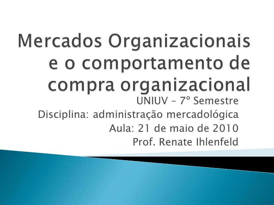 Mercados Organizacionais e o comportamento de compra organizacional