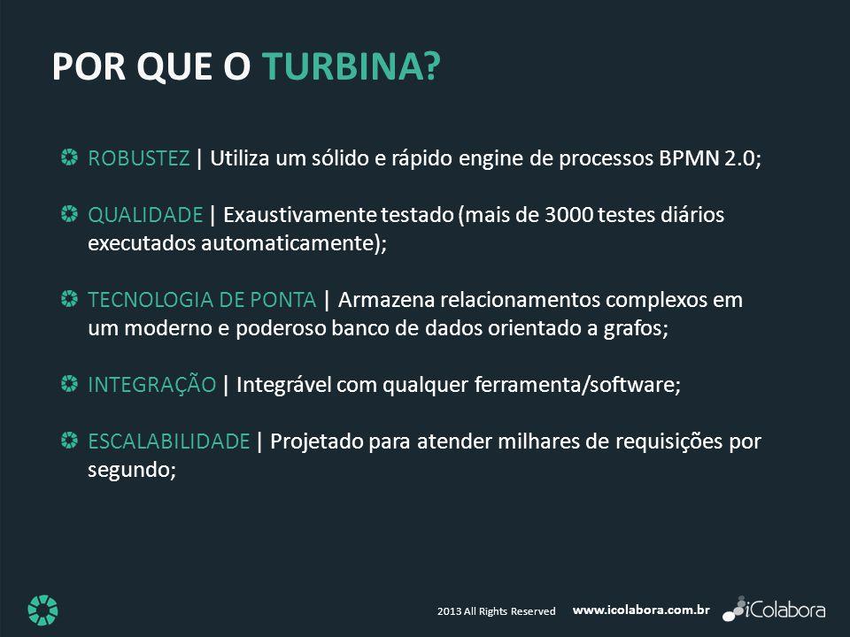 POR QUE O TURBINA ROBUSTEZ | Utiliza um sólido e rápido engine de processos BPMN 2.0;