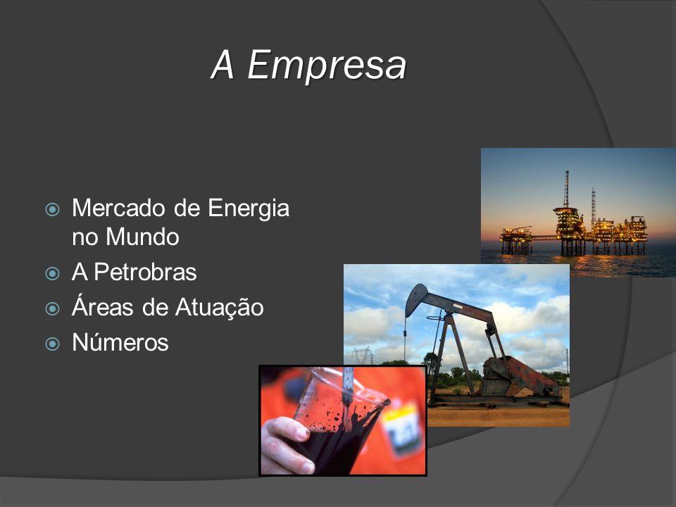 A Empresa Mercado de Energia no Mundo A Petrobras Áreas de Atuação