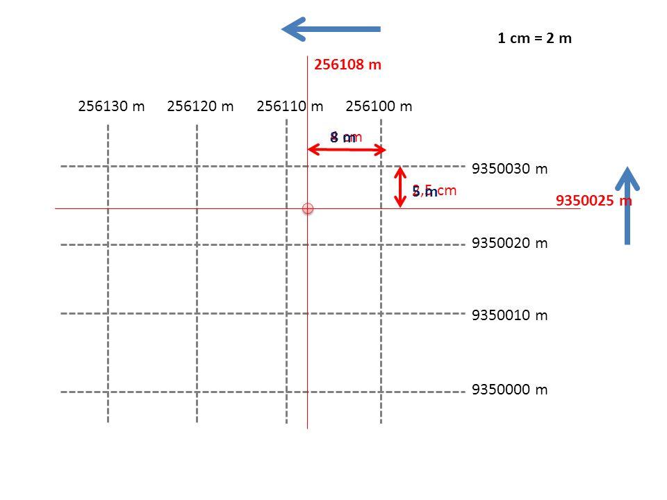 1 cm = 2 m 256108 m. 256130 m. 256120 m. 256110 m. 256100 m. 4 cm. 8 m. 9350030 m. 5 m. 2,5 cm.