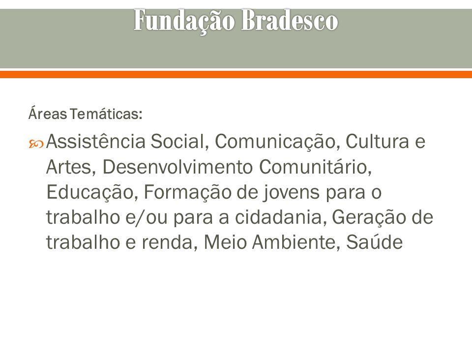 Fundação Bradesco Áreas Temáticas: