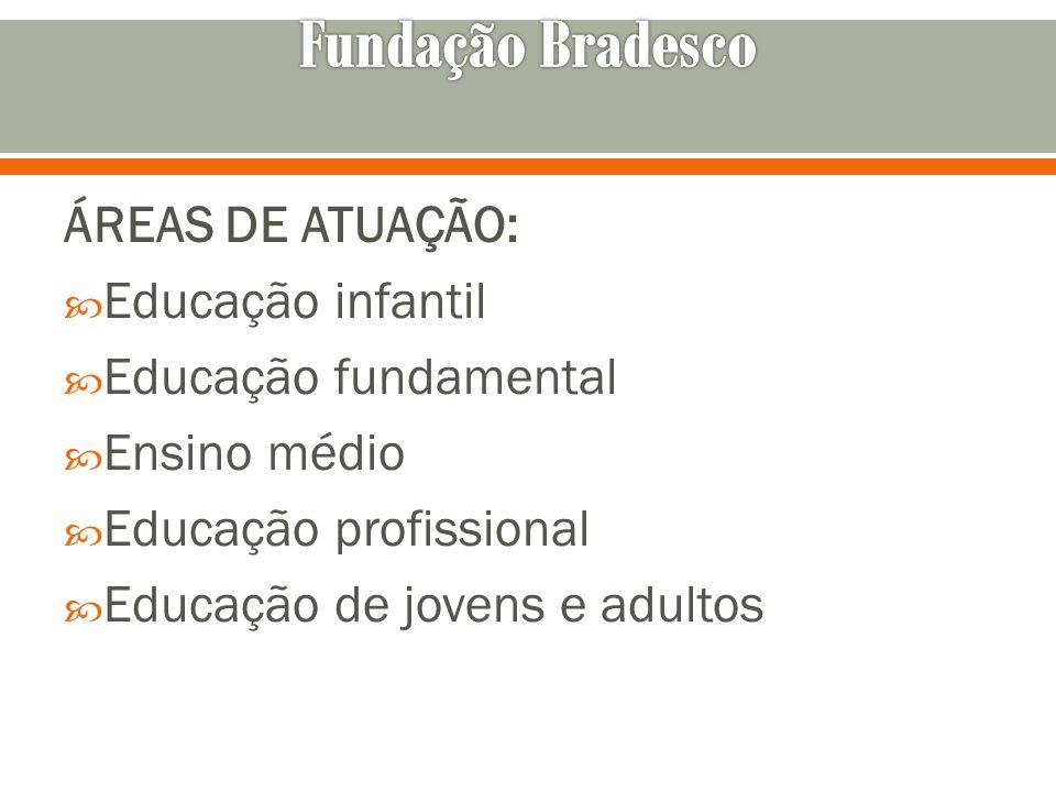 Fundação Bradesco ÁREAS DE ATUAÇÃO: Educação infantil