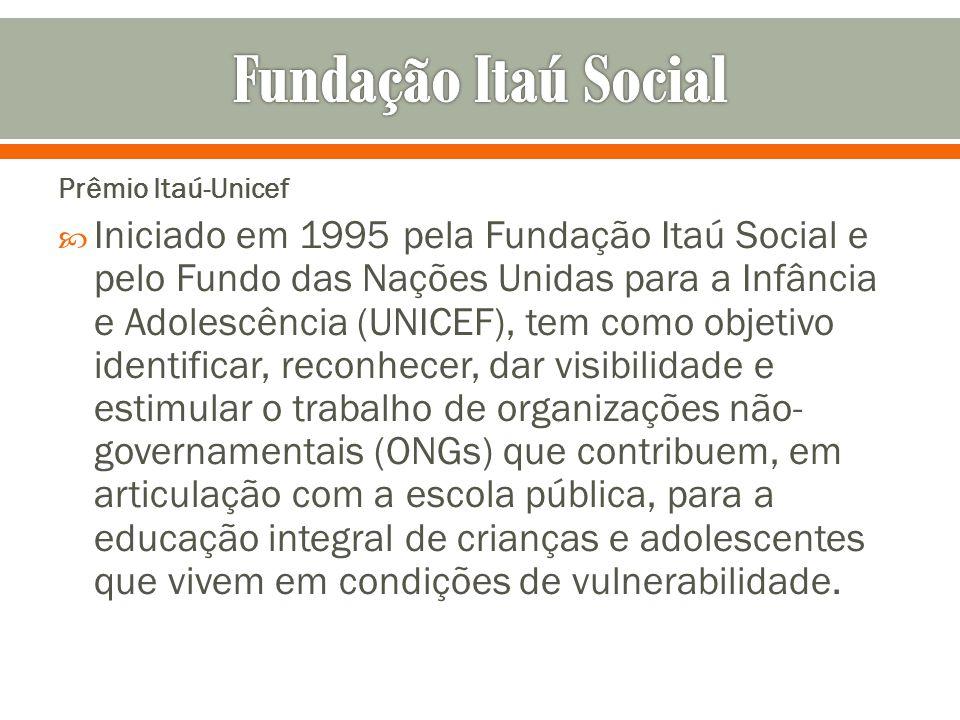 Fundação Itaú Social Prêmio Itaú-Unicef.