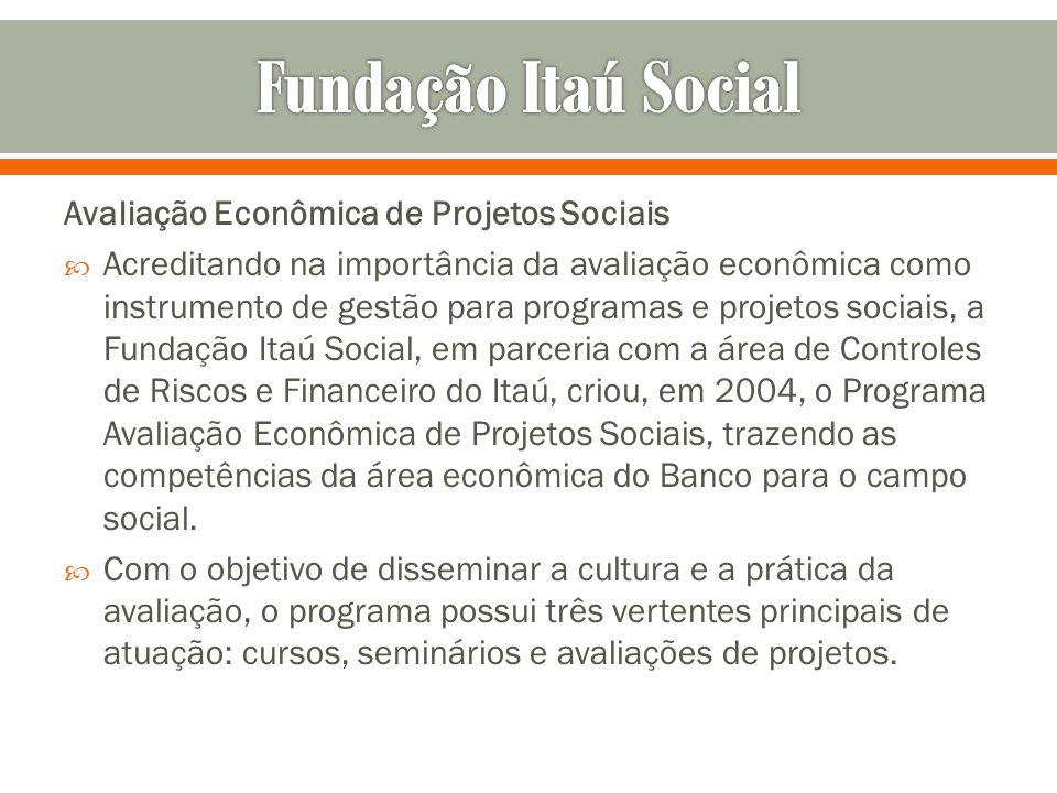 Fundação Itaú Social Avaliação Econômica de Projetos Sociais
