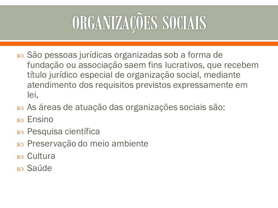 ORGANIZAÇÕES SOCIAIS