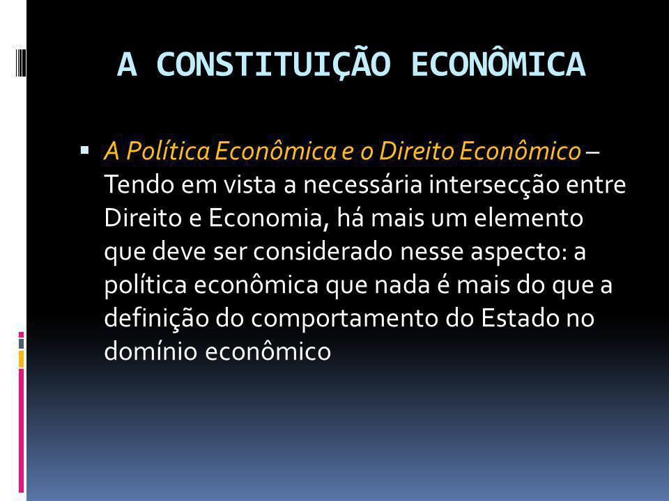 A CONSTITUIÇÃO ECONÔMICA
