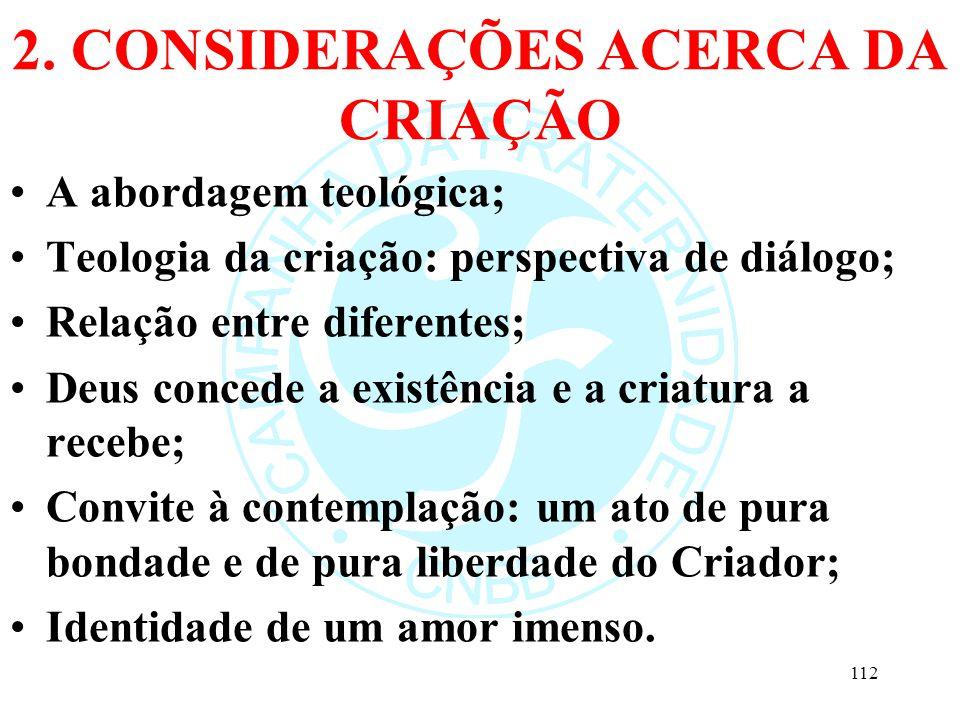 2. CONSIDERAÇÕES ACERCA DA CRIAÇÃO